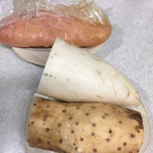 鶏肉と長芋のおろしがけ