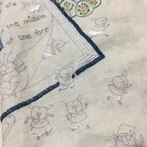 かわいい刺繍 11号チクチク中