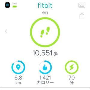 Fitbit歩数の記録