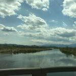 梁川から桑折町への車窓からの風景