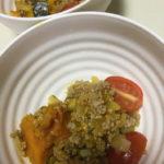 かぼちゃとプチトマトのカレー炒め