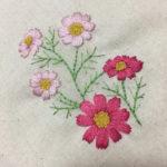かわいい刺しゅう30号コスモスの花