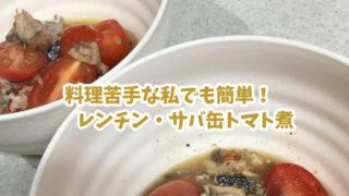 レンチン・サバ缶トマト煮