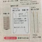 かわいい刺しゅう付録刺しゅう針
