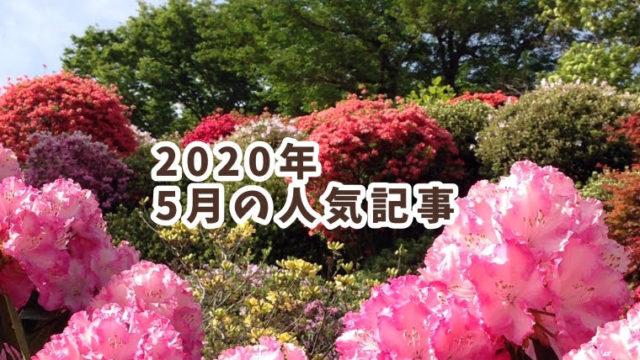 2020年5月のランキング