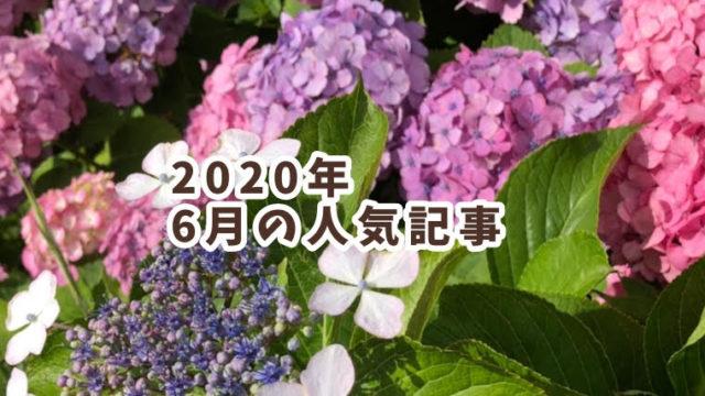2020年6月の人気記事
