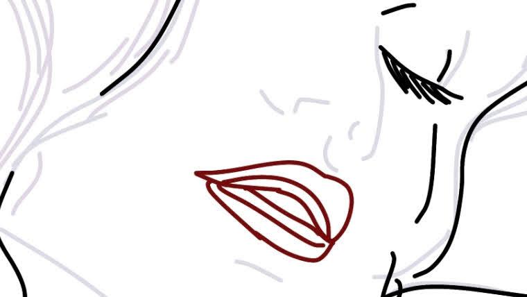 刺繍図案のためのイラスト練習