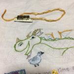 かわいい刺しゅう・ドラゴンの刺繍