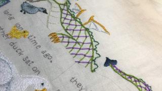 ドラゴンの刺繍