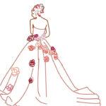 赤い薔薇のドレス