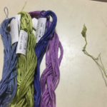 アシェット立体刺しゅうの刺繍糸