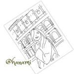 ローマの休日・旅行をする女性のイラスト