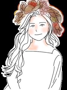 花冠と女の子
