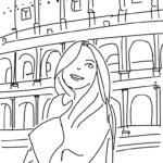 ローマの女性のイラスト