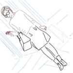 ショッピングをする女性のイラスト2
