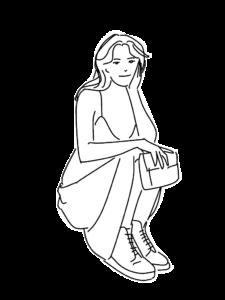 休憩をしている女性