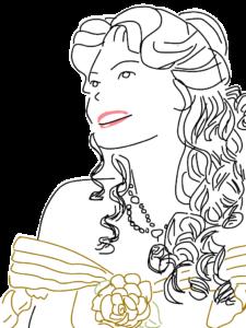 プリンセスのイラスト