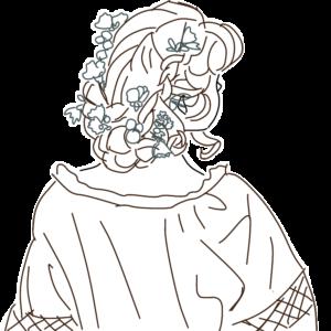 花かんざしの女の子のイラスト