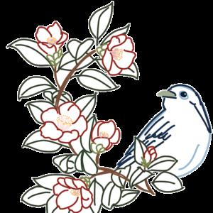 花と鳥のイラスト