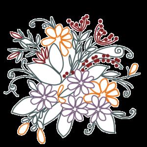 フリーイラスト・花のイラスト