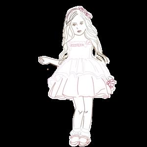 おすましな女の子のイラスト