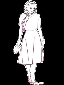 スカーフの女性のイラスト