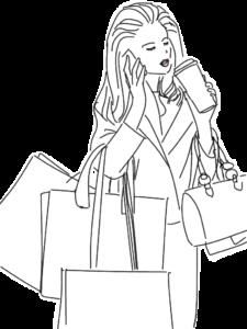 ショッピング・スマホと女性